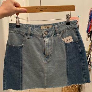 PacSun two toned mini skirt